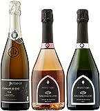 シャンパン製法の長期熟成 フランスのスパークリングワインコンクール金賞受賞の実力派が造るスパークリングワイン3本セット 750mlx3