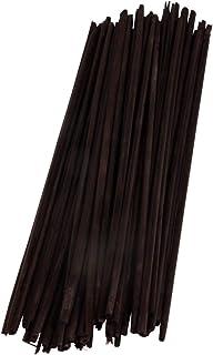 Rayher 65293576 Strohhalme zum Basteln für Strohsterne und Figuren, Bastelstroh in schwarz, 22 cm, 50 Stück