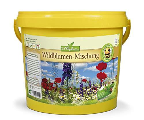 Wildblumensamen   5 Liter Eimer   500-1000m²   Blumensamen für Blumenwiese