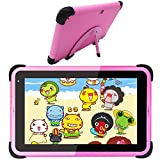 Kids Tablet 7 Inch Android 10 Tablet Kids Learning Tablet Android WiFi Tablet for Children Toddlers Bluetooth for Home School Parent Control Educational Tablet with Kid-Proof Case (Pink)