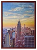 Frame Amo Walnut Brown 24x32 Picture or Poster Frame, 1 inch Wide Border, Smooth Finish, Acrylic Front
