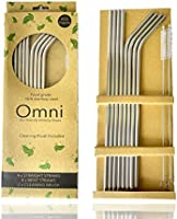 Stainless Steel Reusable Straws with Cleaning Brush, Extra Long 267mm (10.5 inch), Dishwasher Safe, Premium Box Comes...