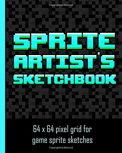 Sprite Artists Sketchbook 64 X 64 Pixel Art Grid For Games Artists Sprite Designers Level Designers People Who Love Pixel Art The Grids Are