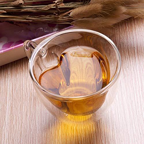 Taza de café de doble pared de cristal resistente taza de té cerveza taza de leche zumo de limón taza de bebida amante taza taza de café taza de regalo h180ml