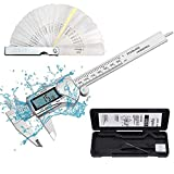 Neoteck IP54 Waterproof 6 inch Digital Caliper, Stainless Steel Electronic Caliper Measuring Tool Fractions/inch/mm Conversion with Large LCD