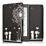 kwmobile Carcasa Compatible con Kobo Aura Edition 2 - Funda para Libro electrónico con Solapa - niños y Diente león