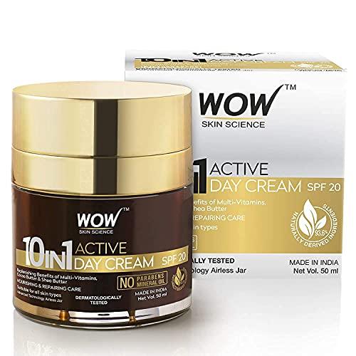 WOW 10 en 1 Active Miracle sin parabenos y aceite mineral crema de día 50 ml