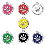 Pet Tag Art Diseño de la Pata Etiqueta de Mascota Personalizada grabada, Etiqueta de Gato, Etiqueta de identificación de Mascota