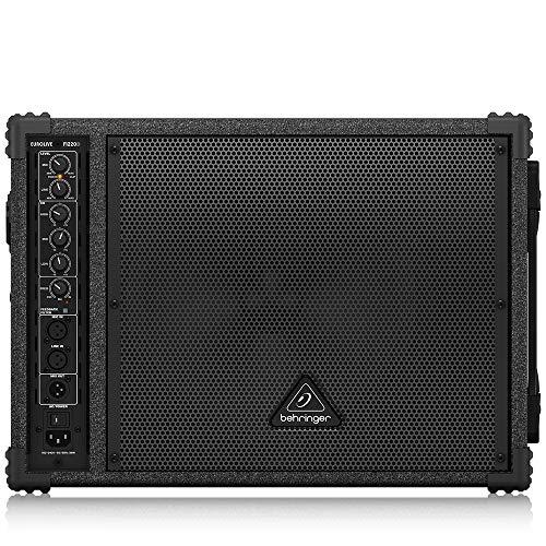 BEHRINGER F1220D Bi-Amped 250-Watt Monitor Speaker System with 12' Woofer 1' Compression Driver and Feedback Filter Black