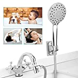 Sink Faucet Hose Shower Attachment - Faucet Extension Rinser for Bathtub Bathroom Kitchen Laundry Tub, w/ 360 Swivel Aerator, Faucet Diverter, 6.5ft Hose, 6-Spray showerhead for Delta Moen Kohler