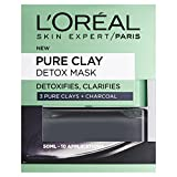 L'Oreal Paris, <span class='highlight'>Face</span> Mask, Pure Clay Charcoal Detox Clay Mask