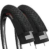 Fincci Par 20 x 1,95 Pulgadas 53-406 Cubiertas para BMX o Niños Bici Bicicleta (Paquete de 2)