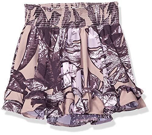 Maaji Girls' Big Printed Elastic Waist with Ruffle Hem Skirt, Coco-Loco Purple Palm, 12