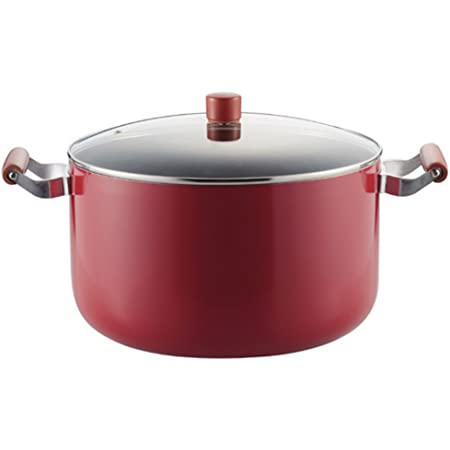 パール金属 大鍋 両手鍋 32cm ガラス鍋蓋付 IH対応 メガサイズ フッ素加工 レッド H-2700