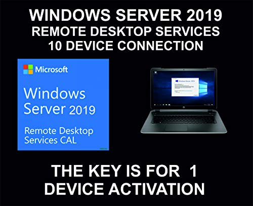 Server 2019, Remote Desktop Services, 10 Device Connections License Key, Genuine, For 1 Device Activation
