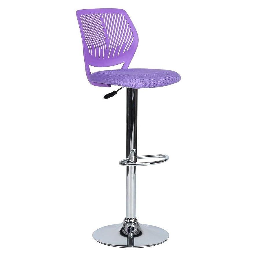 それに応じてラウズバタフライJJJJD バースツール360度回転バーチェアモダンスタイルバーカウンターチェアキッチン朝食バースツール (Color : Purple)