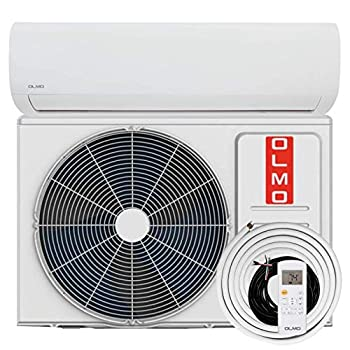 OLMO Alpic 18000 BTU Ductless Mini Split Air Conditioner Heating and Cooling Full Set with 16ft Installation Kit