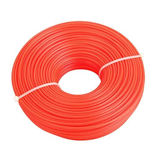 Kongqiabona-UK Recortadora de jardinería de 2,4 mm / 3,0 mm, cortadora de línea, cortadora de Cepillo, línea de Cable, Rollo Redondo Largo, línea de Cuerda de Hierba Cuadrada para cortadora de césped