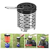 Lixada Outdoor Heater, Outdoor Portable Gases Heater Cover, Warmer Stoves Heating Cover, 4.5 5.7in (D H), Stainless Steel + Iron