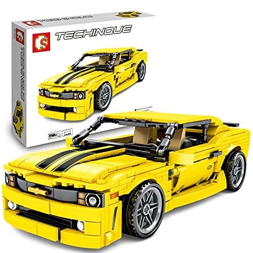 icuanuty Technics Sports Car Building Blocks Set para Camaro, Technology Car 558Pcs Kit De Bloques De Construcción Compatibles con Lego