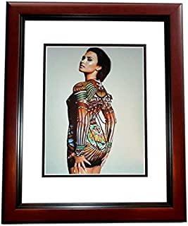 Demi Lovato Signed - Autographed Sexy Singer - Actress 8x10 inch Photo MAHOGANY CUSTOM FRAME