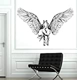 Wall Vinyl Horse Wings Pegasus Mustang Mural Vinyl Decal Sticker and Stick Wall Decals