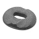 KDLYQ Memory Foam Seat Cushion for Office Chair Car Wheelchair, Coccyx Seat Cushion for Back, Tailbone, Sciatica Pain, Office Chair Cushion Pad Black