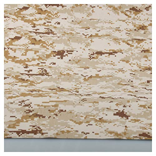 Digital Desert Camo Camouflage Cotton Blend Army Military Fabric Cloth