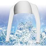 FANCYPUMPKIN Respirable de Verano UV Sun Protectora Manga de Brazo Cubre para el Golf/Tenis/Ciclismo/Pesca, tamaño L-Blanco