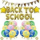 CHEPL Decorazione Primo Giorno di Scuola Palloncini Pennant Banner di Benvenuto per Feste Decorazioni Classroom Rifornimenti della Festa a Tema di Ritorno a Scuola