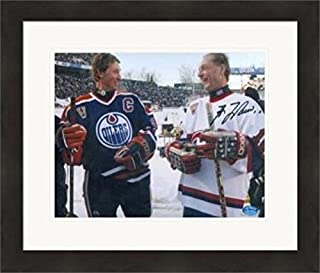 Autographed Guy Lafleur Picture - 8x10 Hall of Famer) #SC6 Matted & Framed - Autographed NHL Photos