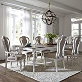 Liberty Furniture Industries Magnolia Manor 7 Piece Rectangular Table Set, W90 x D44 x H30, White