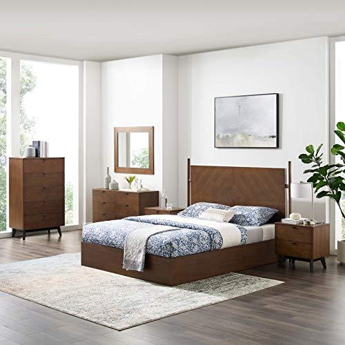 Buy Modway Kali 6-Piece Bedroom Set, Walnut