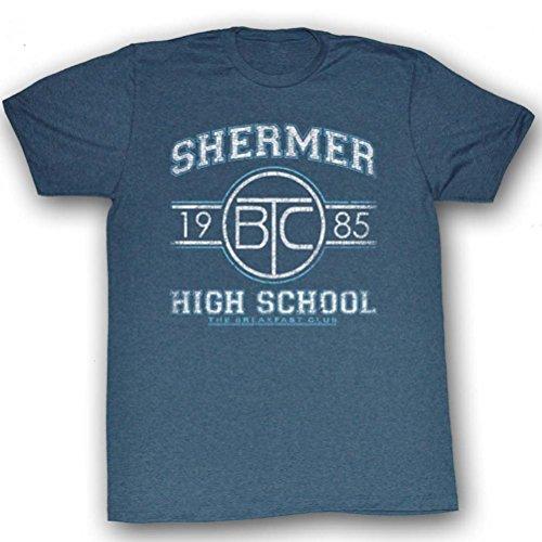 Shermer High School 1985 T-shirt for Men, Slate, S to 2XL