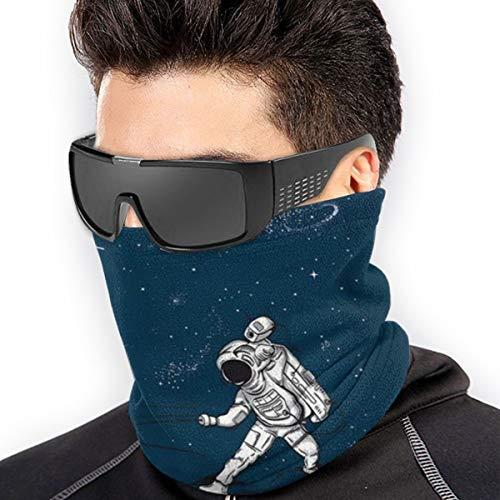 QsuNa die Astronauten Zäune im Weltraum weicher Halswärmer Gamasche winddicht Gesichtsschutz Bandana Sturmhaube Gesichtsabdeckung