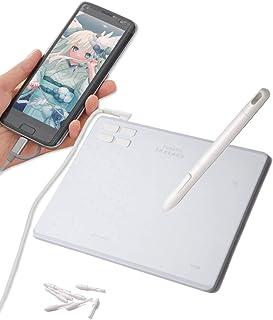 RAYWOOD 筆や写楽 ペンタブレット TSUKISHIRO PC・Android対応 ショートカット4個 ペンタブ 板タブ OTGアダブタ 線画 イラストデータ付き