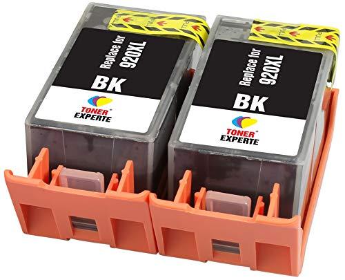 TONER EXPERTE® 2 XL Schwarz Druckerpatronen Ersatz für HP 920 920XL CD975AE kompatibel für HP Officejet 6000 6500 6500A 7000 7500A E609a E609n E709a E709n E710a E710n E809a E910a   hohe Kapazität