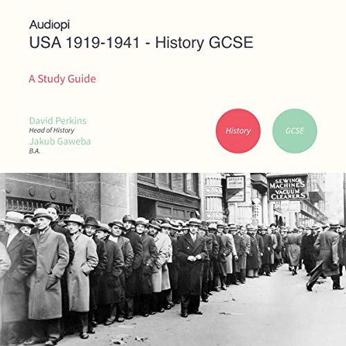 USA 1919-1941 History GCSE Study Guide audiobook cover art