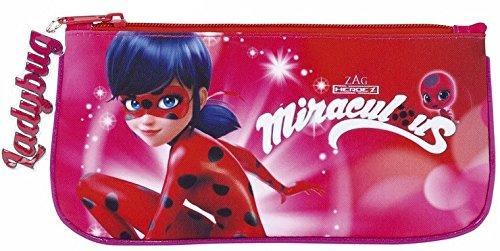 Lady Bug Miraculous Ladybug Estuche portatodo Plano, Color Rosa, 23 cm (SAFTA 811712028): Amazon.es: Juguetes y juegos