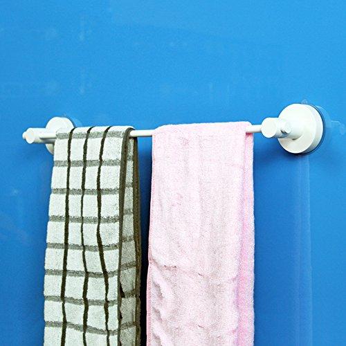 Handdoekhouder, wandhouder voor handdoekdroger, voor wastafels, badkamer, handdoekhouder met zuignappen, handdoekhouder met stang, roestvrij staal