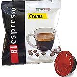 Biespresso 128 Cápsulas de café crema compatibles con Lavazza A Modo Mio
