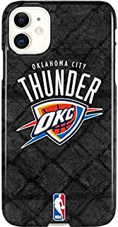 Skinit Lite Phone Case for iPhone 11 - Officially Licensed NBA Oklahoma City Thunder Dark Rust Design