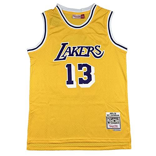 KKSY Camisetas de Hombre Chamberlain # 13 Camisetas de Baloncesto de Los Angeles Lakers Chaleco Transpirable Retro,A,XXL