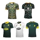 Camiseta De Rugby para Hombre, Edición del 100 Aniversario Sudáfrica Una Variedad De Estilos Camiseta De Rugby Transpirable De Local/Visitante White-M