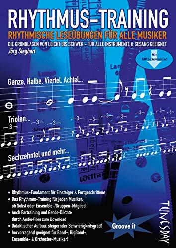 Rhythmus-Training - Rhythmik lernen: rhythmische Leseübungen für alle Musiker - Notenheft mit MP3-Download