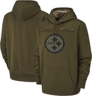 qunshengmy Pittsburgh_Steelers_Men's_Apparel_Salute_to_Service_Sideline_Therma_Performance_Pullover_Hoodie