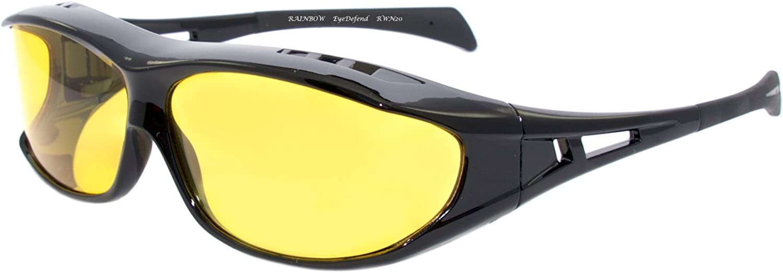 Rainbow Safety - Gafas de visión nocturna polarizadas, gafas de conducción nocturna, gafas de moto RWN20-NIGHT