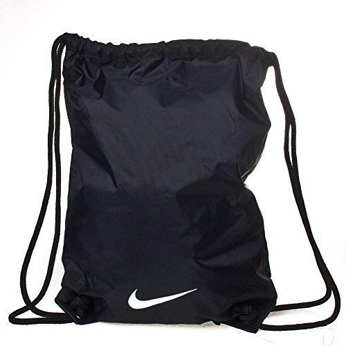 Nike BA2735 001 Fundamentals Swoosh Gymsack Borsa da Uomo, Nero / Bianco, Taglia Unica
