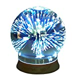3D air humidifier, VISVEIL Seven Star essential oil diffuser, intelligent water shortage power off, glass/PP design,Automatic ultrasonic humidifier incense(Nonradiative)