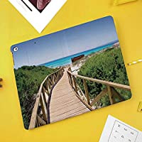 iPad mini 1 2 3 ケース 二つ折スタンド オートスリープ機能 iPad Mini3/2/1(初代第二三世代) 専用スマートカバースペインの田園地帯のコテージ夏の太陽の上の森の上のビーチ経路